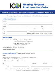 ICOI Insertion Mech Info  Order Form - O