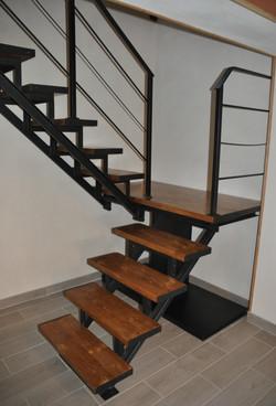 Escalier demi tour
