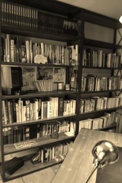Bibliothèque style industriel