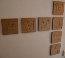 Lettres de Scrabble DECO
