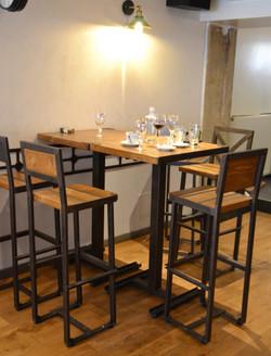 Mange debout bar restaurant oxydée