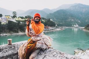 Flute Player. Rishikesh, Uttarakhand, India 2016