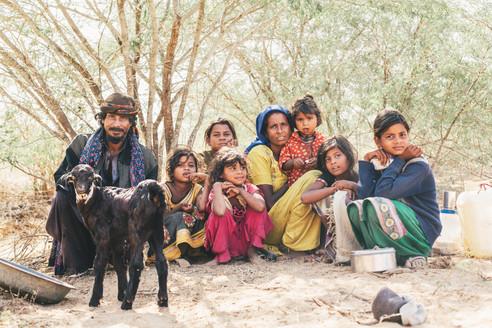 Itinerant family, Gujarat, India 2016