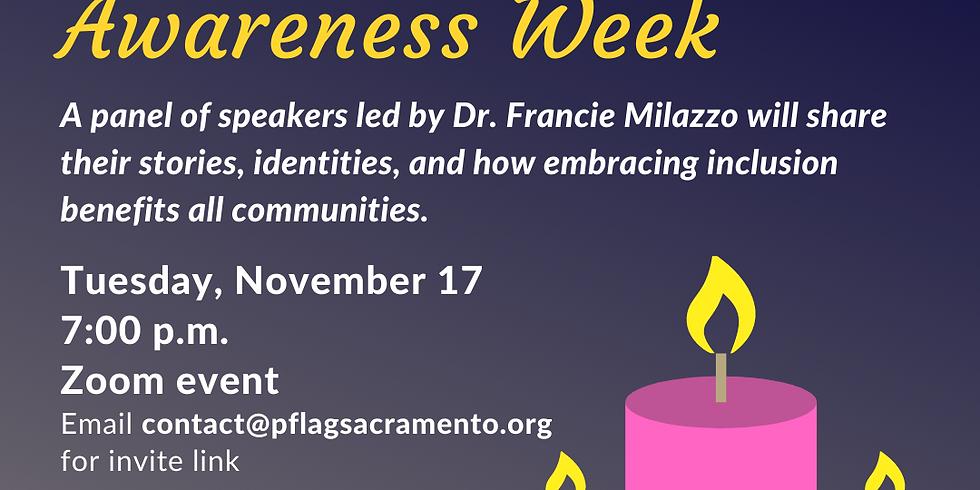 Panel Discussion: Transgender Awareness Week