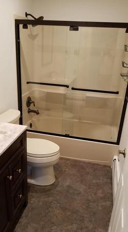 Bronze tub shower doors