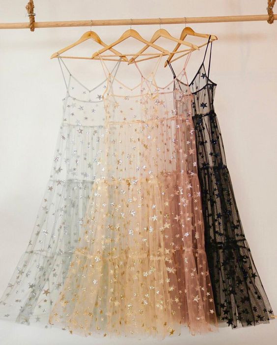 Sheer star gowns
