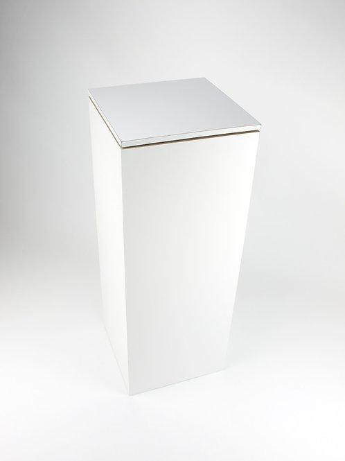 White Display Plinth