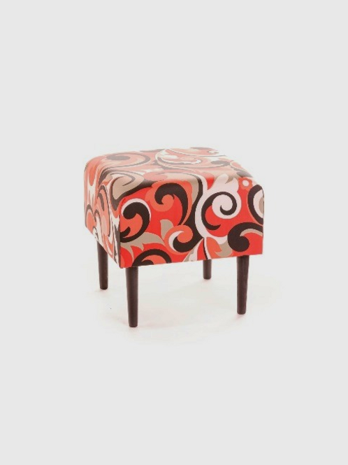 Red Floral Stool