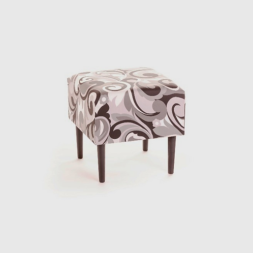 Grey Floral Stool