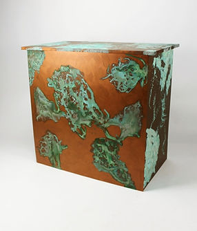 Event, exhibition and party bars, copper patina bar