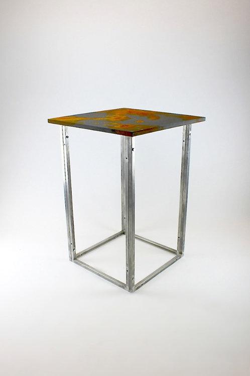 Rust Bar Frame Table