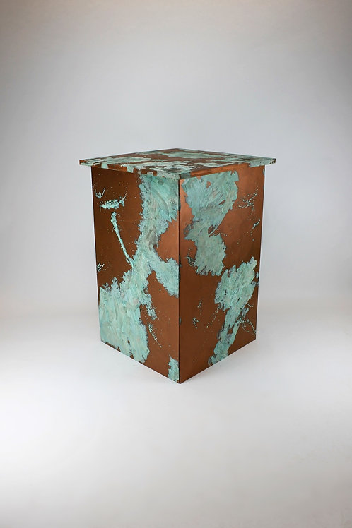 Copper Patina Bar Table