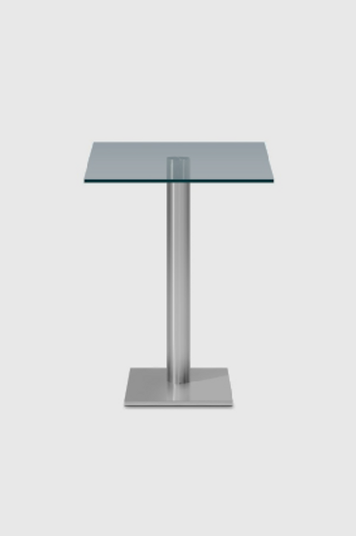 Square Glass Bar Table