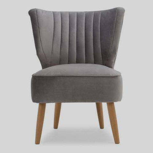 Grey 1 Seater Wingback  Chair
