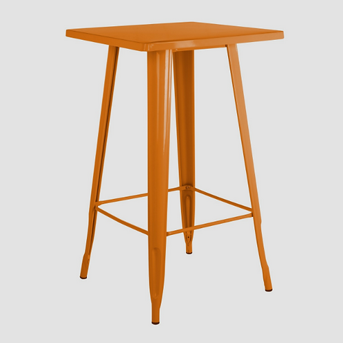 Orange Industrial Bar Table