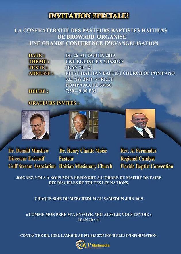 Evangelism Conference (Haitian Pastor's Fellowship) | gulf