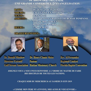 Evangelism Conference sponsored by the Haitian Pastor's Fellowship