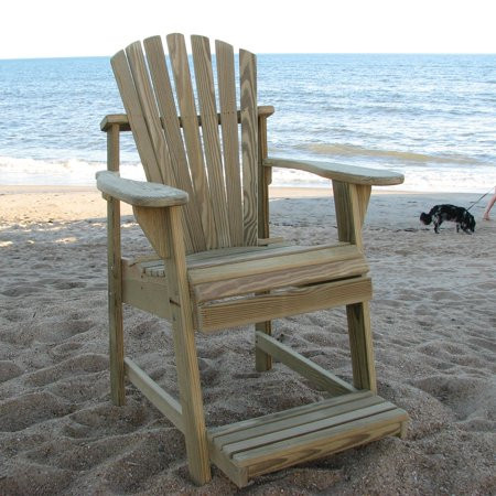 Adirondack pub height chair in natural f