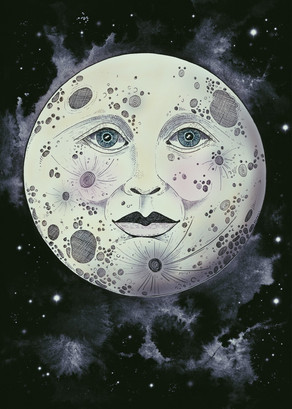 June and the Moon