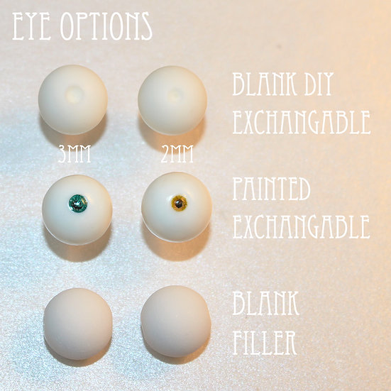 One Pair of Blank Filler Eyes (for DIY)