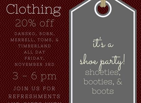 It's a Shoe Party!