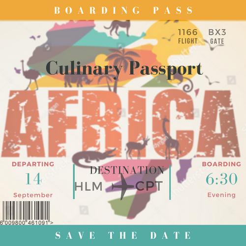 Culinary Passport Invite