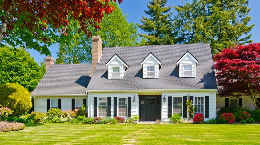 Custom built luxury house with nicely tr