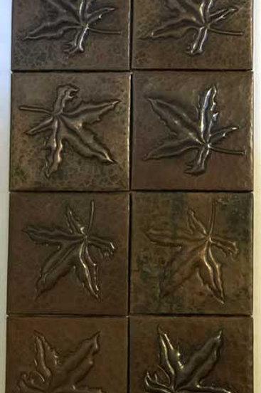 Copper Tile (TL419) Set of 8