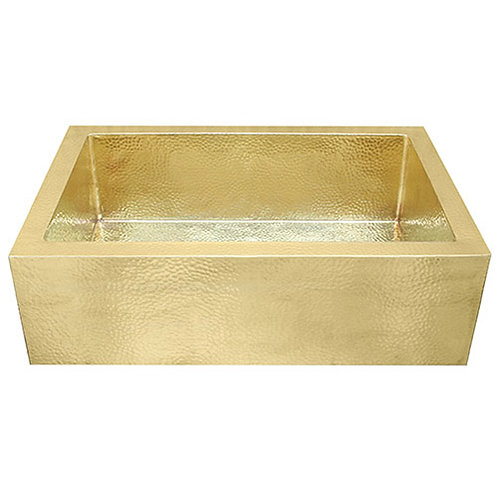 Brass Farmhouse Kitchen Sinks-Single Bowl (FHA-W1-BRASS)