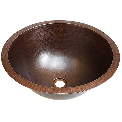 Bath Sink Round Copper Bathroom Sinks (BR)