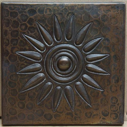 Copper Tile (TL363) Sun Burst Design