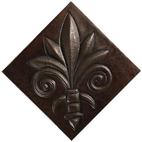 Copper Tile (TL222) Palm Fleur De Lis Design