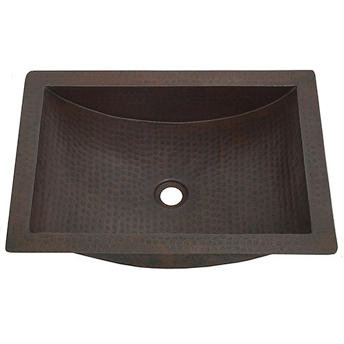 Trough Sink Copper Bath Shallow Copper Trough Sink (TR2216)