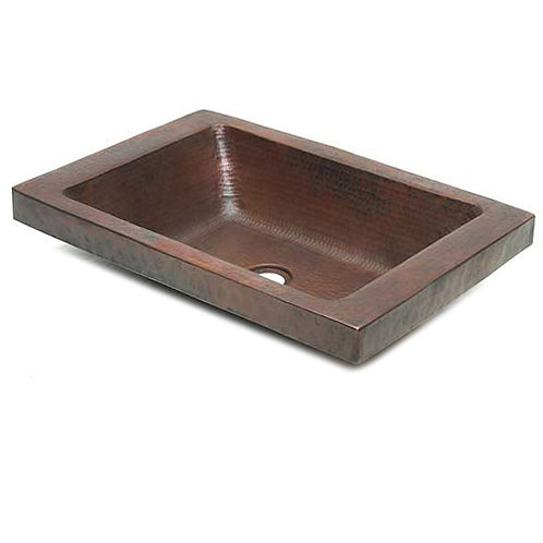 Copper Vessel Sink Rectangle w/Apron Surround (REA20)