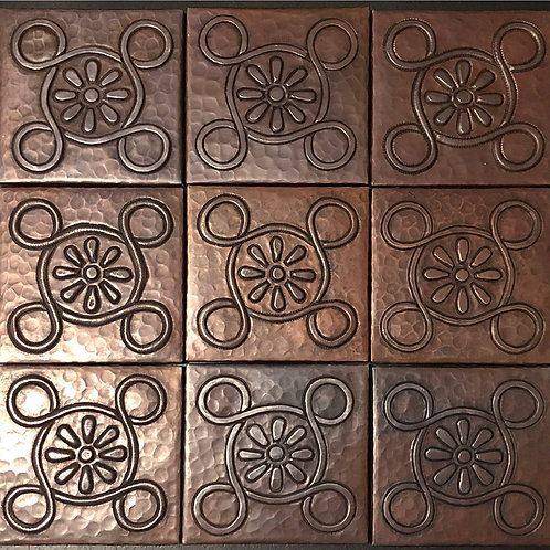 Copper Tile (TL997) Set of 9