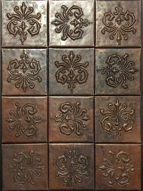 Copper Tile (TL978) Set of 12