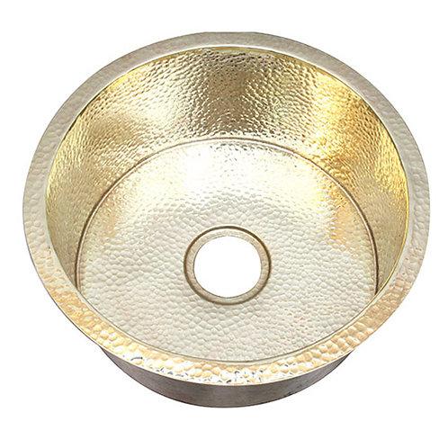 Hammered Bar Sink Drum Style Brass Sinks (DBV-BRASS)