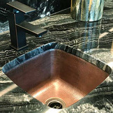 SBV15-Installed copper bar sink