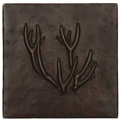 Copper Tile (TL372) Deer Antlers Design