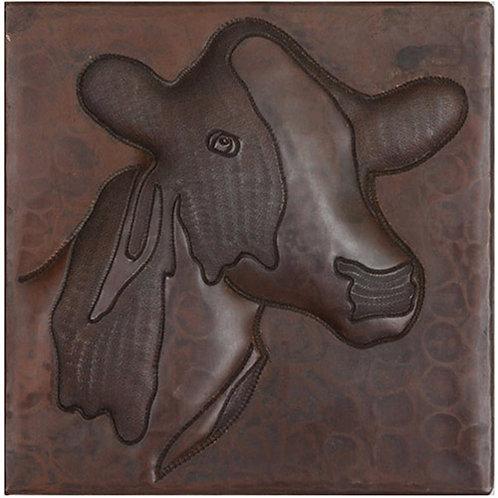 Copper Tile (TL601) Cow Design