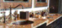 Oval copper bathroom sinks BO19CN