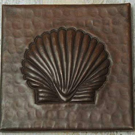 Copper Tile (TL334) Sea Shell Design