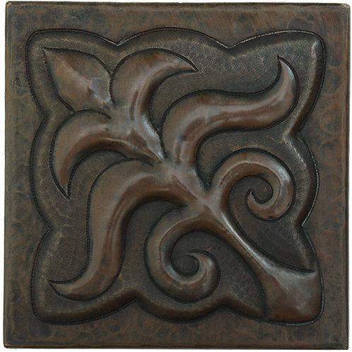 Copper Tile (TL903) Fleur De Lis Design