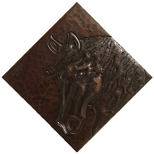 Copper Tile (TL228) Horse Head Design