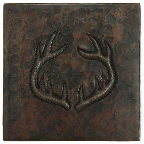 Copper Tile (TL374) Antlers Design
