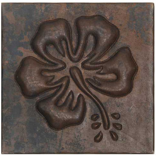 Copper Tile (TL365) Floral Design