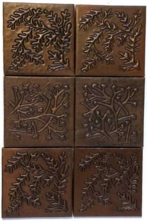 Copper Tile (TL850) Set of 6