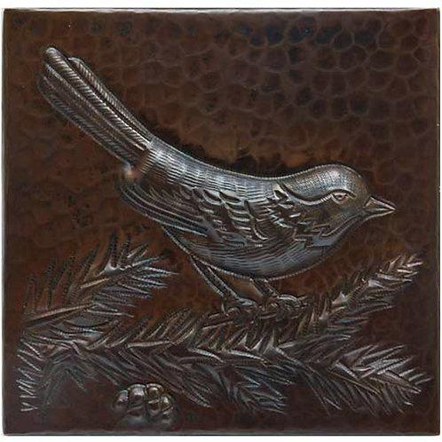 Copper Tile (TL204) Bird on Branch Design