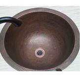 BR17-MED round copper bath sink