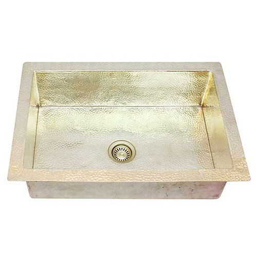 Brass Kitchen Sinks-Single Bowl (KDI-W1-BRASS)